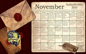 Hufflepuff NaNoWriMo Wallpaper by simply