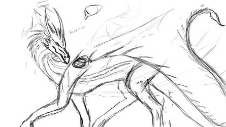 Scorpion concept art wip by quitra