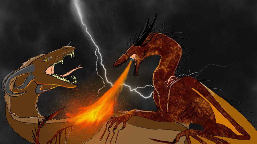 Dragon Battle by quitra
