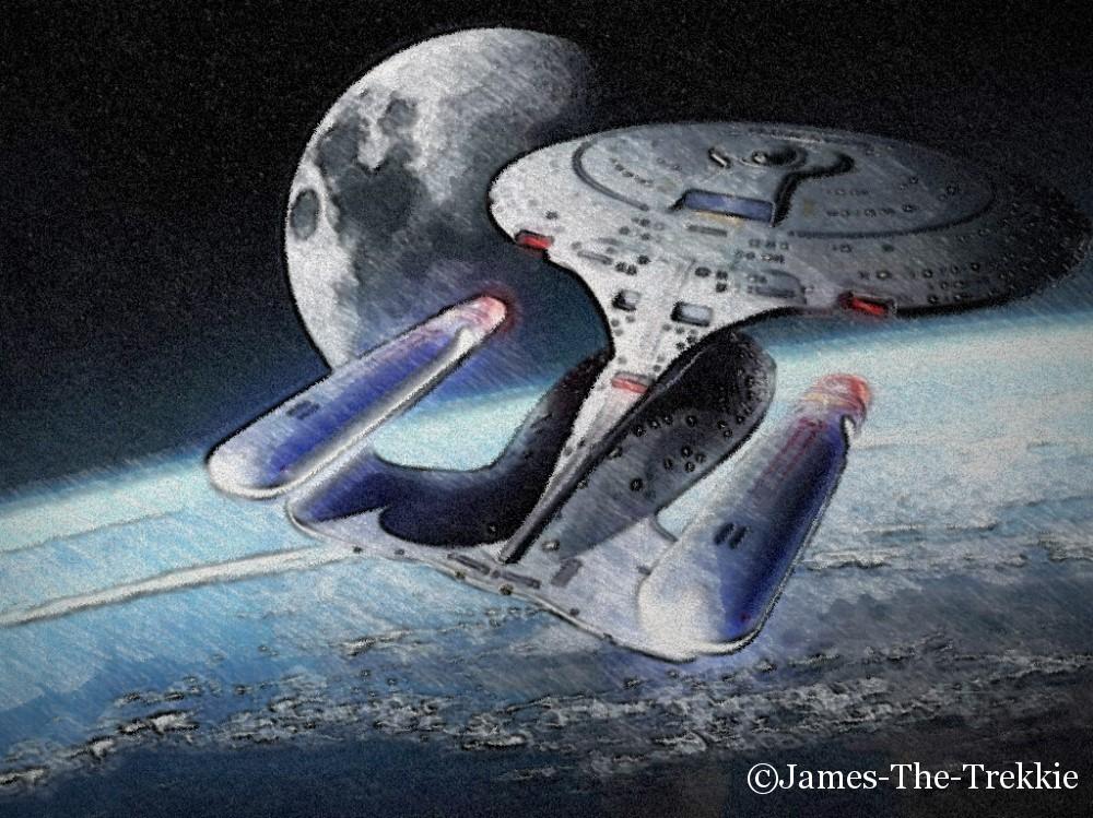 Enterprise D 2 marked by James-The-Trekkie