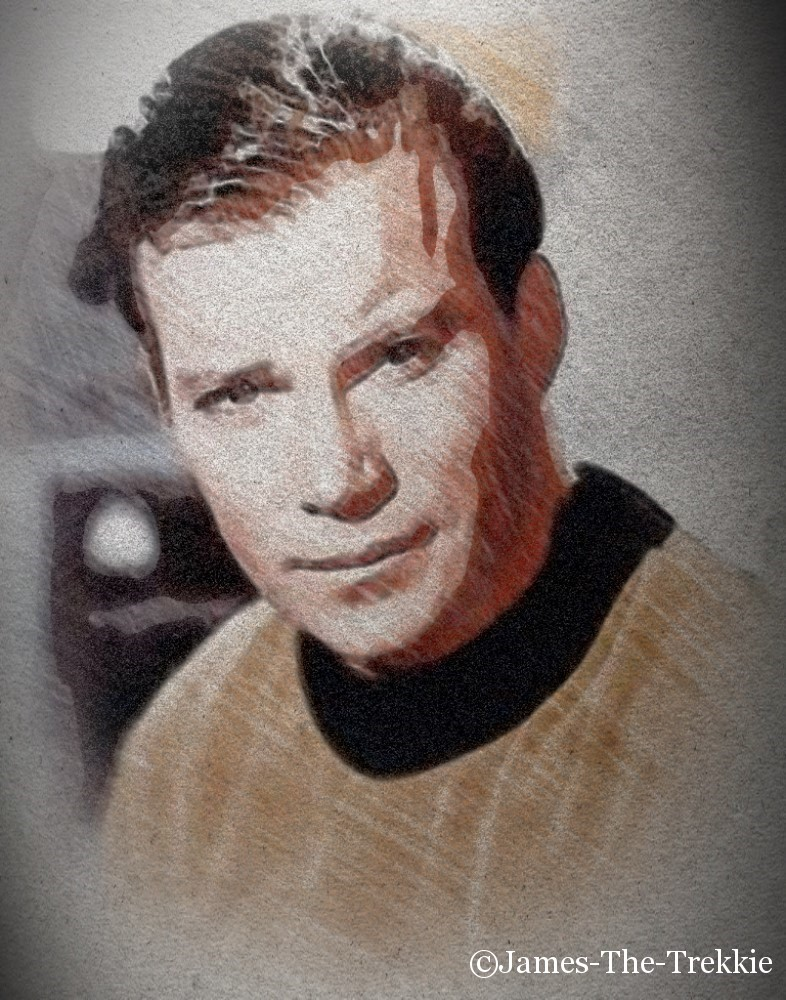 Captain Kirk Portrait Marked by James-The-Trekkie