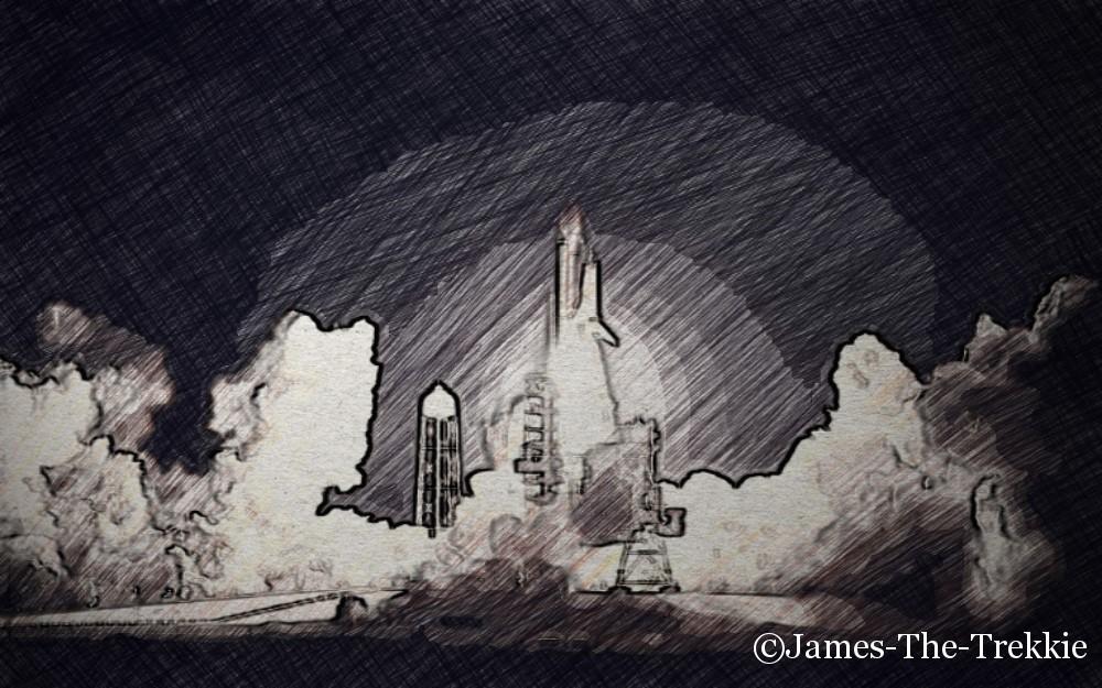 Spaceshuttle Launch Marked by James-The-Trekkie