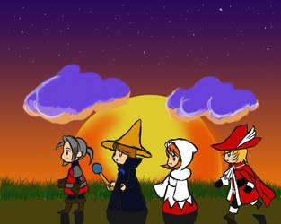 Warriors of Light WIP by MizunoMirai
