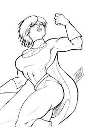 Power girl sketch by rsouza