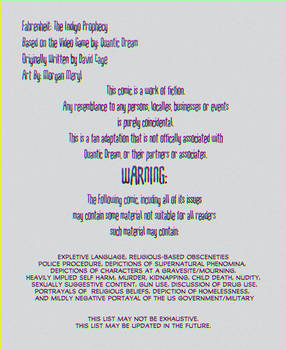 Fahrenheit Indigo Prophecy - WARNINGS and info