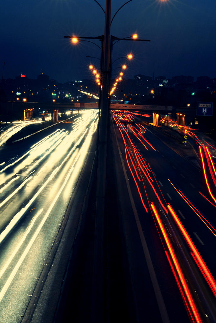 traffic at night by - photo #1
