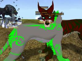 Me and Yaoiwolf101 huggling on SoE by DerpTheWolf101