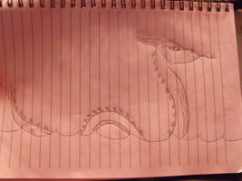 Meh water dragong drawing :D by DerpTheWolf101