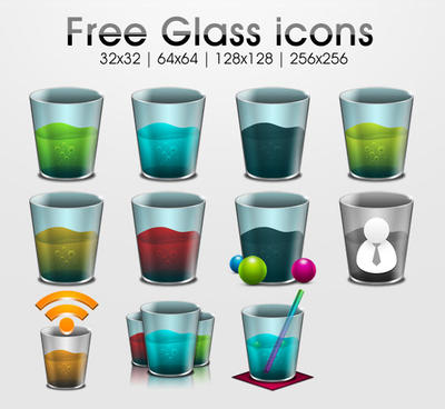 Freebie: glass icons by yahya12