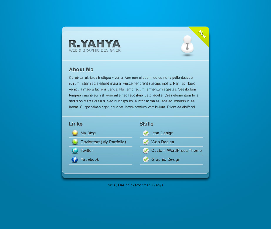 blue vcard by yahya12