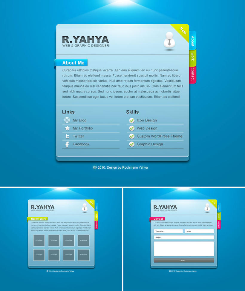freebie: Stylish vCard by yahya12