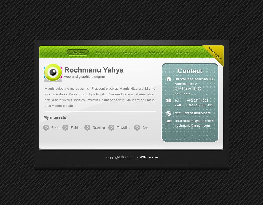 vCard_concept1 by yahya12