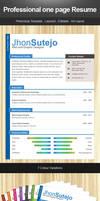 freebie: one page resume by yahya12