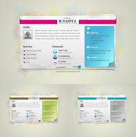 freebie: Paper vCard by yahya12