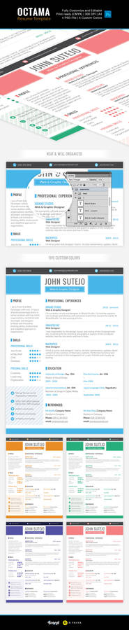 Freebie: Octama Resume Template