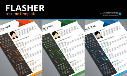 Flasher Free Resume Template