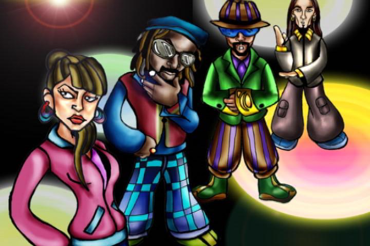 Black Eyed peas animated by boisei7
