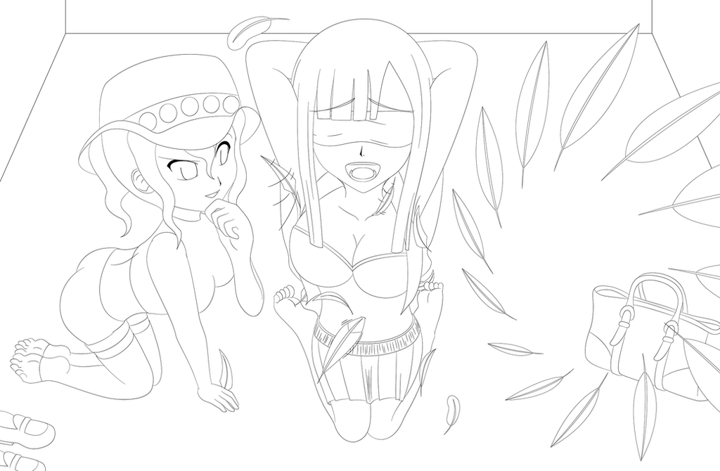 Lucy Heartfilia Lineart : Catching the fairies 2 bisca connell lineart by exaspirit on