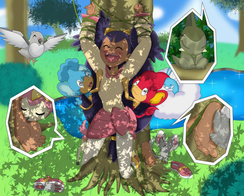 Iris forest visit by exaspirit