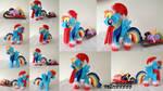 Chrismas time handmade Rainbow Dash plush by valio99999