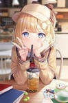 Anime kawaii drink