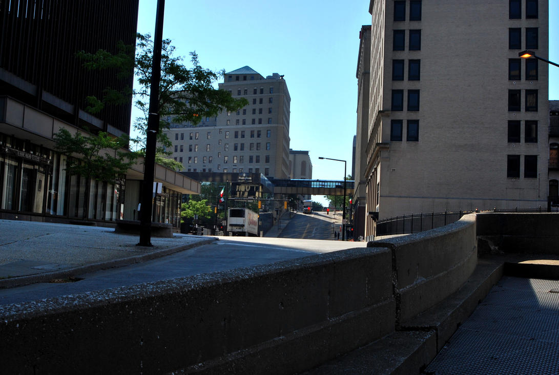Akron at 8 a.m. by coffeenoir