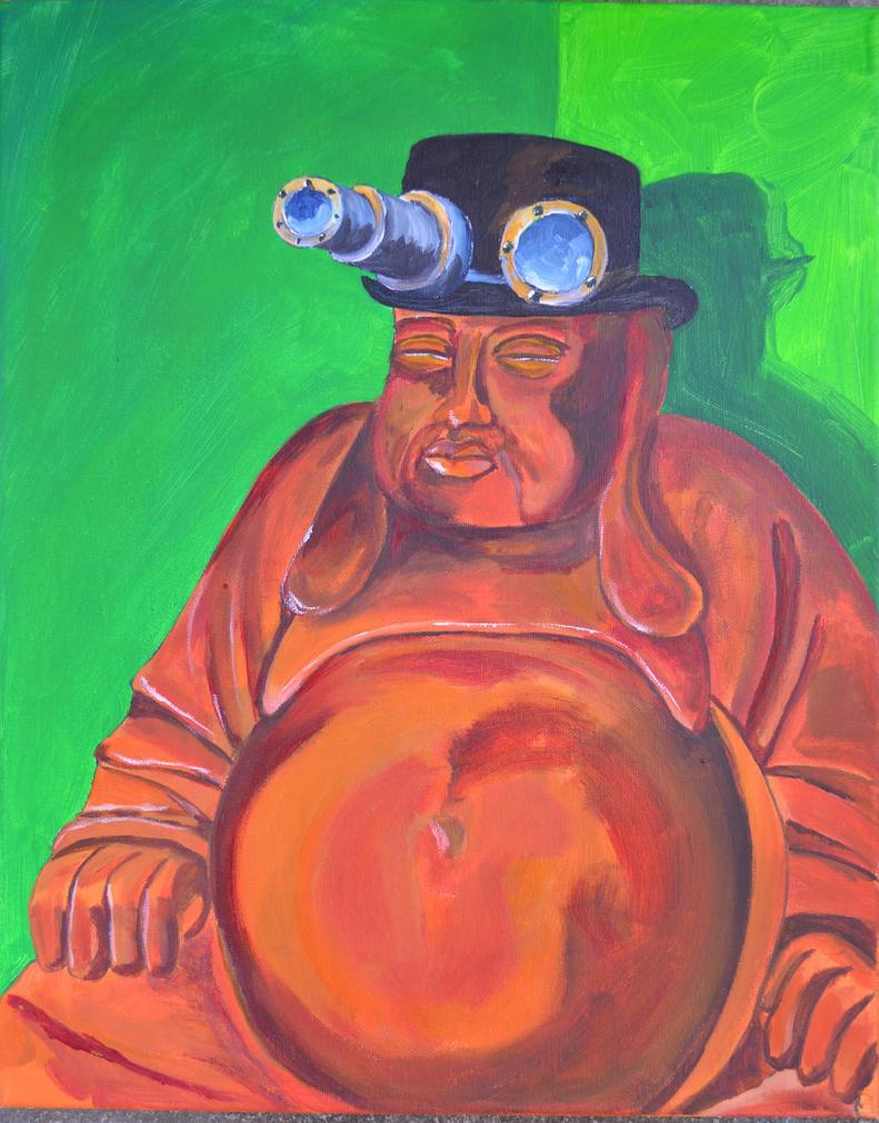 Steampunk Buddha Realistic by coffeenoir