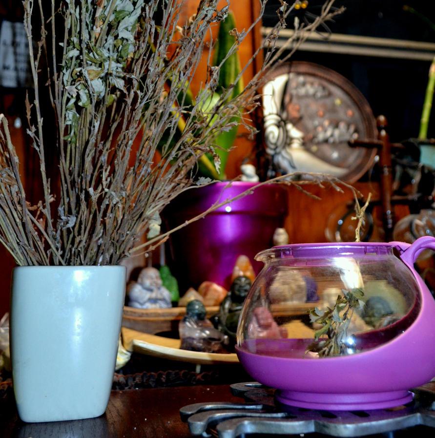 Mugwart Simple with Buddha by coffeenoir