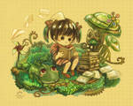 Childhood Garden by Tangmaelon