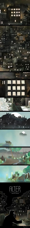 BG works for short animation ALTER by Tangmaelon