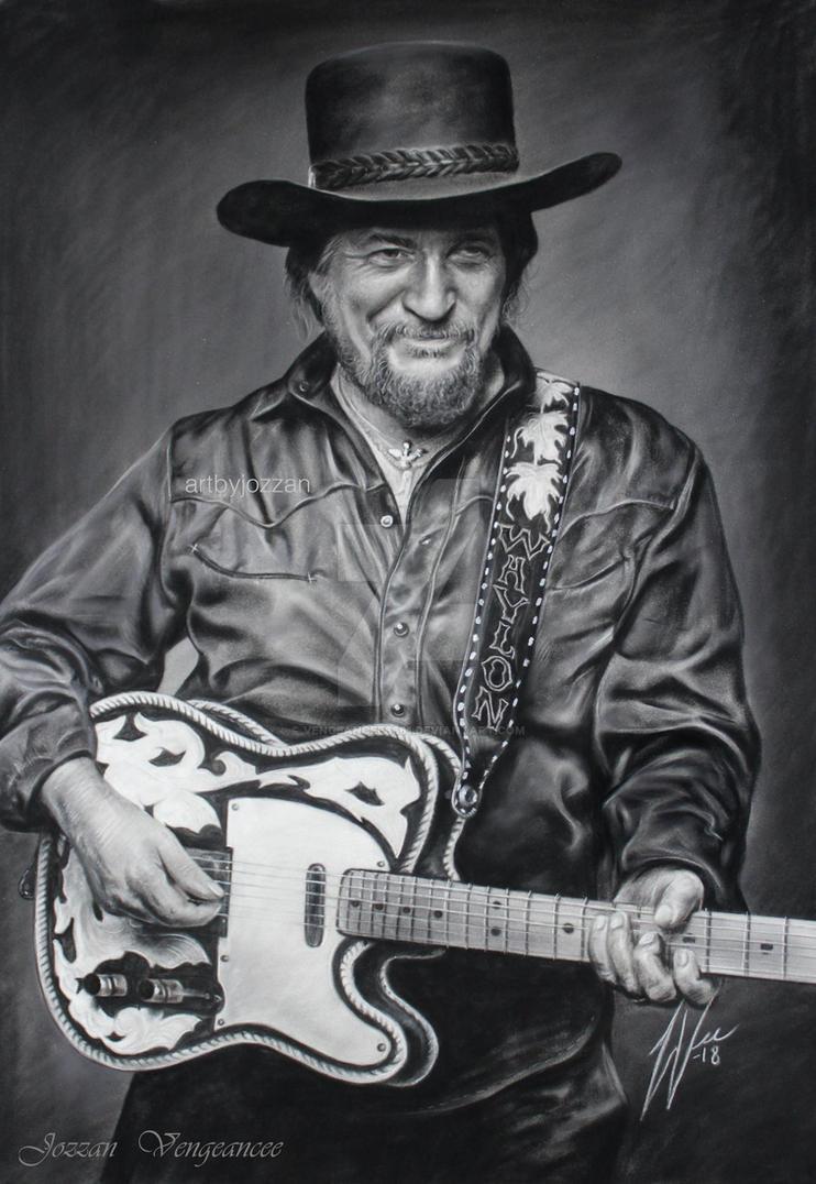 Waylon Jennings Drawing by Vengeancee6661