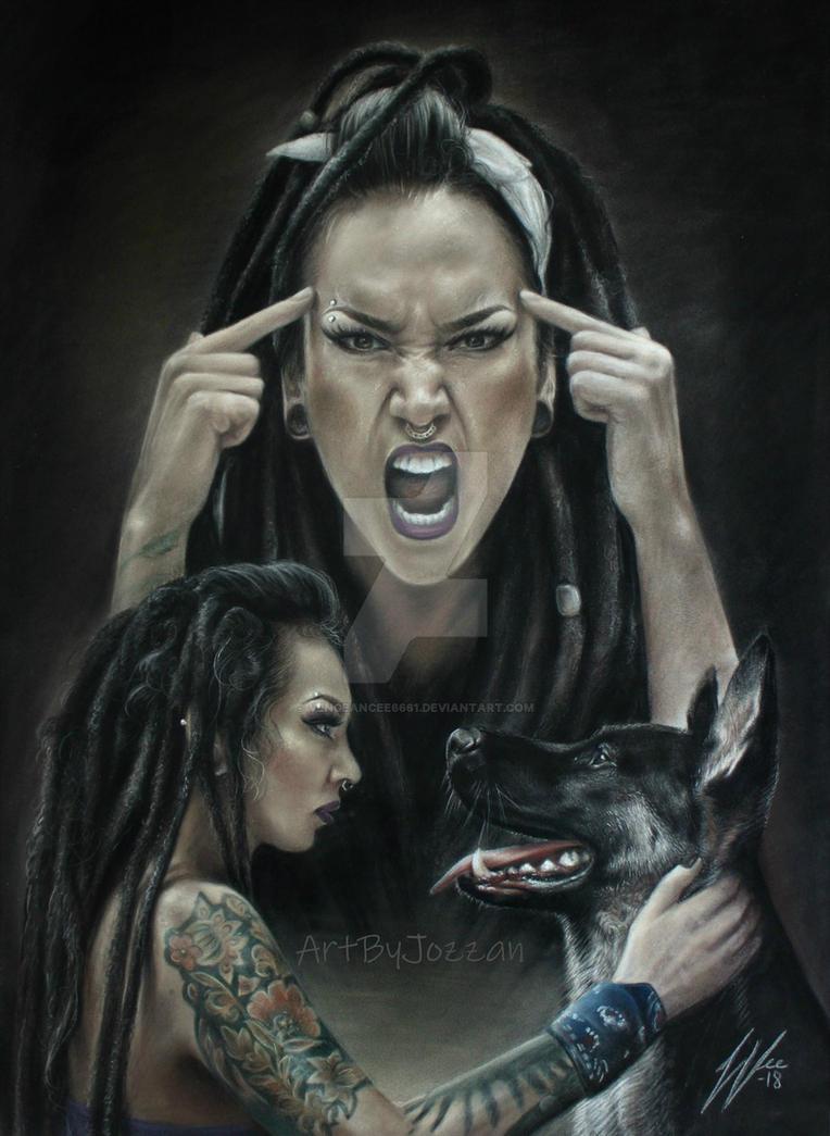 Tatiana Shmaylyuk from Jinjer Drawing by Vengeancee6661