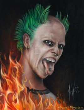 Keith Flint Firestarter portrait