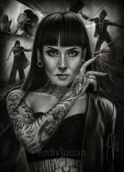 Portrait of Tatiana Shmaylyuk from Jinjer
