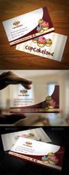 Cupcake Backery Business Card by BossTwinsArt