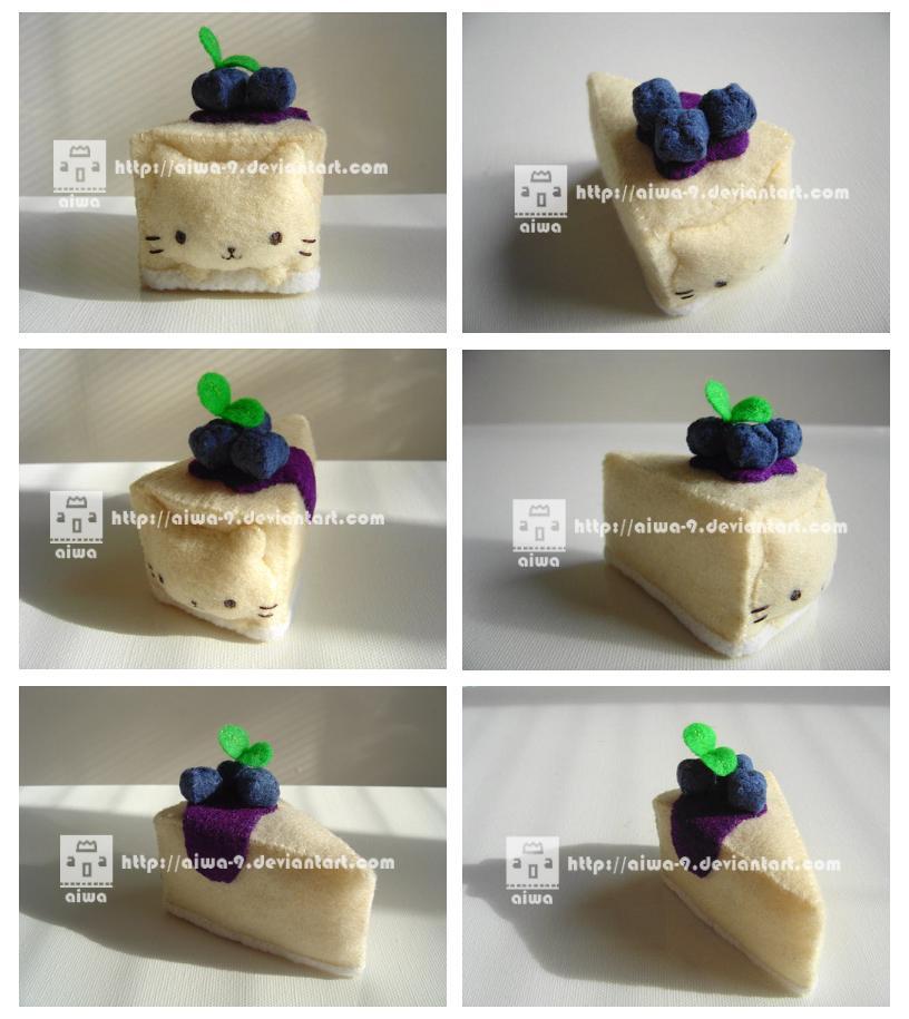 nyanko blueberry cheesecake