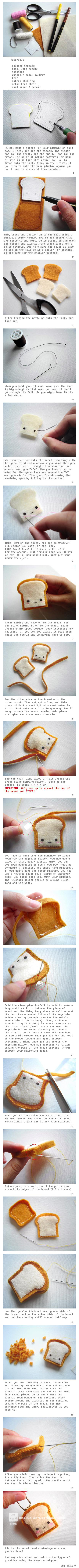 plush toast keychain tutorial by aiwa-9
