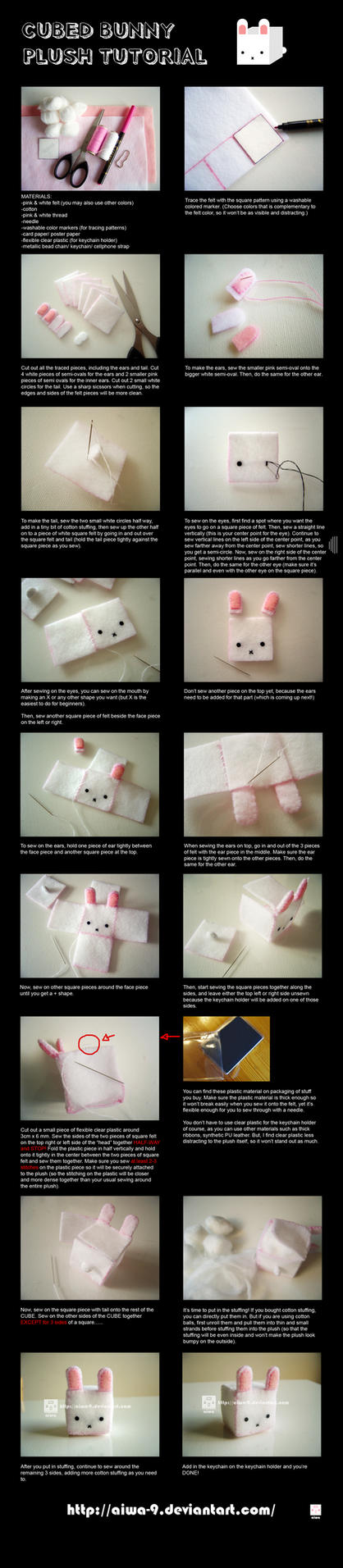 CUBED bunny plush tutorial by aiwa-9