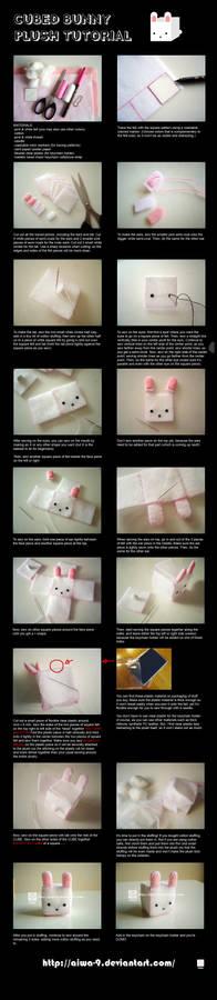 CUBED bunny plush tutorial