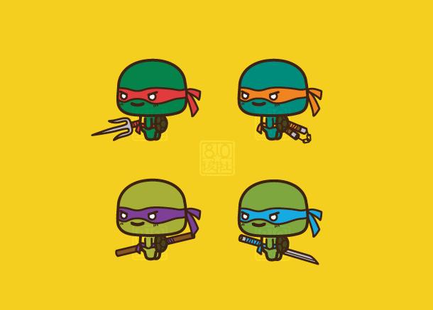chibi ninja turtlesaiwa-9 on deviantart