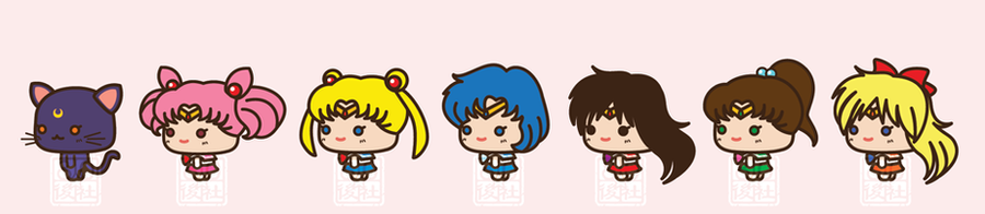 Chibi Sailor Scouts by aiwa-9