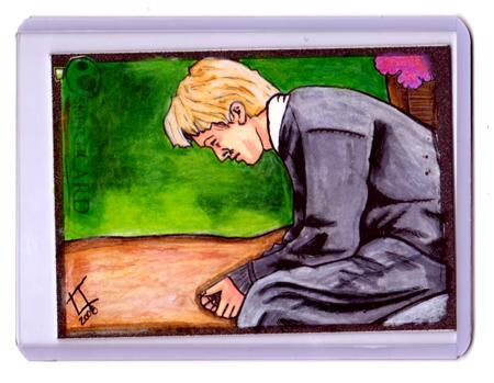 Draco Malfoy Sketchcard by carnalunacy