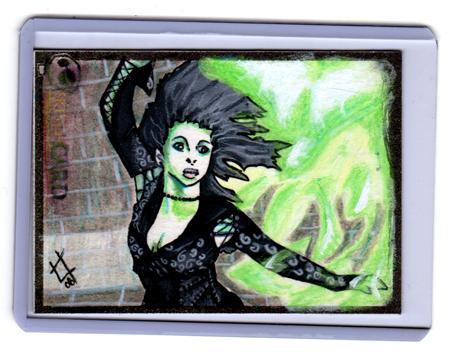 Bellatrix Lestrange Sketchcard by carnalunacy
