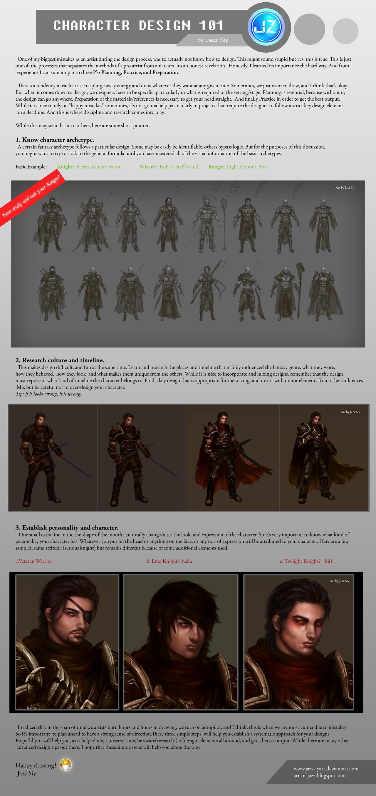 Character design 101 by JazzSiyArt