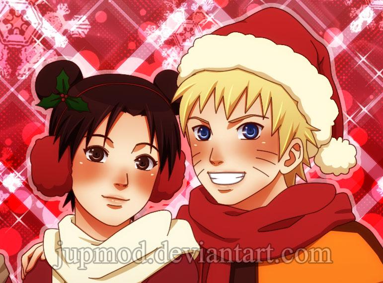 NaruTen Christmas Close-up by JuPMod