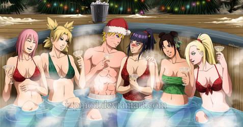 Naruto: Hot-Tub Holiday Cheers by JuPMod