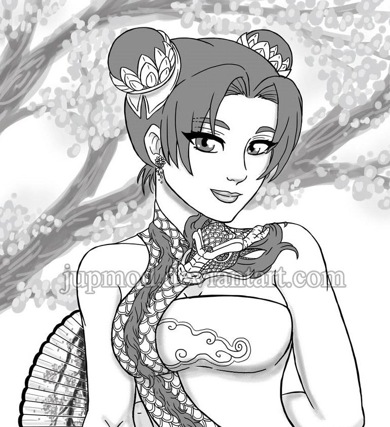Tenten: Exotic Dragon Beauty by JuPMod