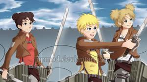 Naruto-AoT xover: Let's Kill Titans!