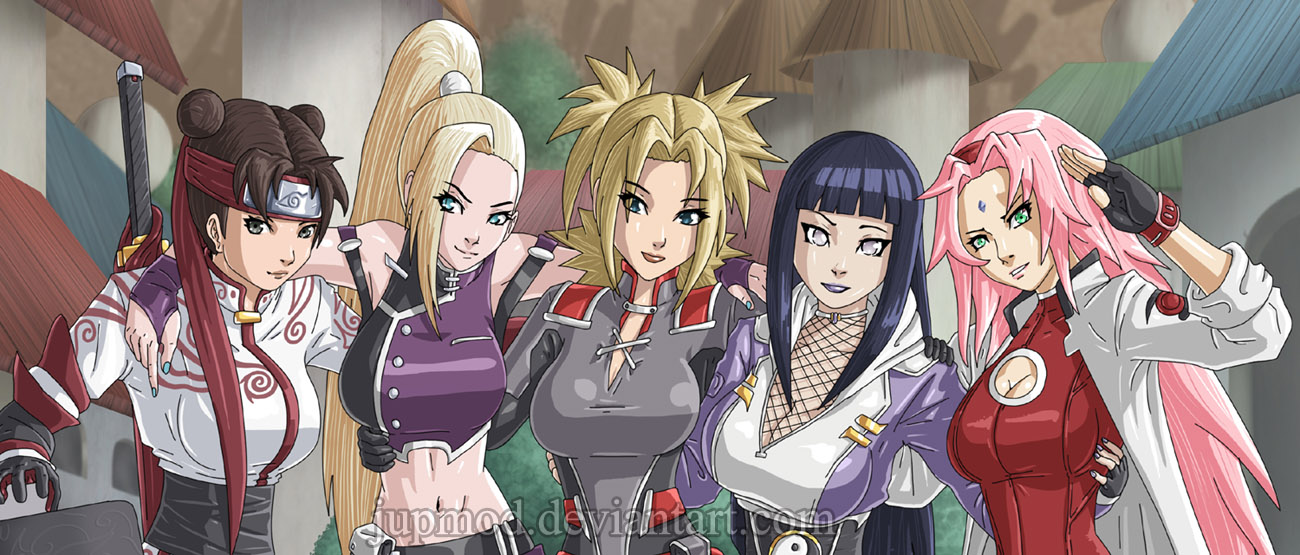Naruto: The Kunoichi Five (Close-up) by JuPMod