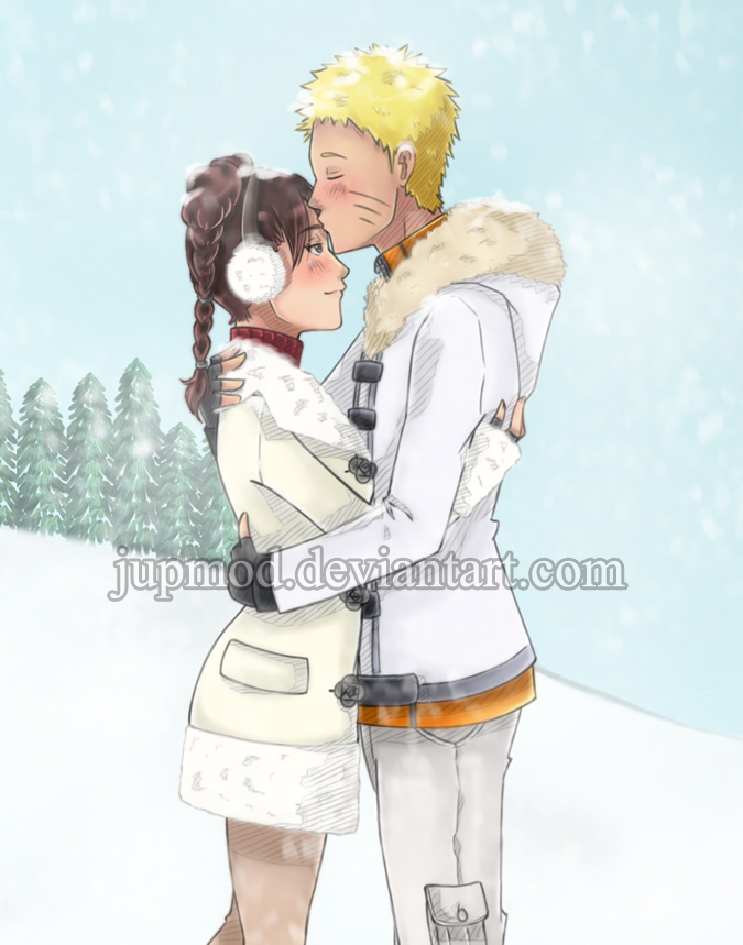 NaruTen: A Kiss in White (Close-up) by JuPMod